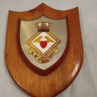 HMS Alacrity Ships Mess Wall Plaque