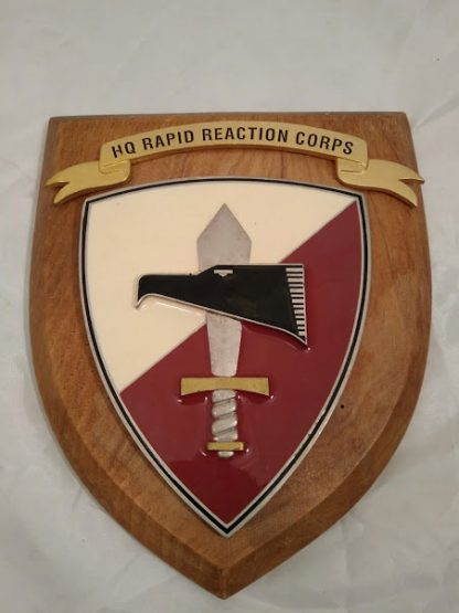 HQ Rapid Reaction Corps Regimental Wall Mess Plaque