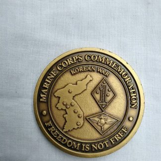 Marine Corps 50th Anniversary Commemoration Challenge coin - Freedom is not Free