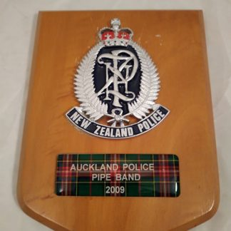 New Zealand Police Brigade Regiment Mess Wall Plaque
