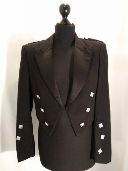 Prince Charlie Jacket - with satin lapels - boys