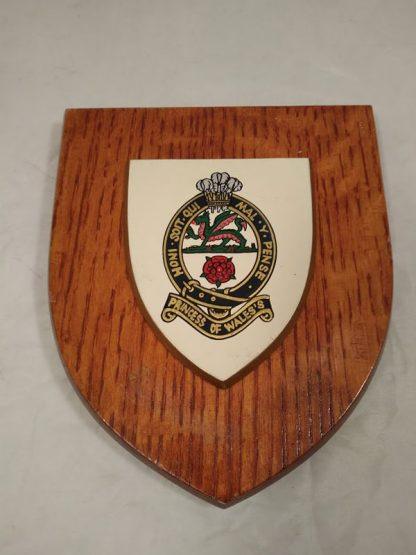 Princess of Wales Regiment Wall Mess Plaque