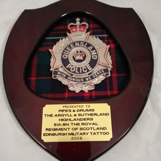 Queensland Police Brigade Regiment Mess Wall Plaque (presented to A&SH 2006)