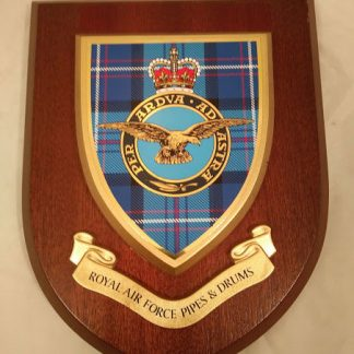 RAF Pipes & Drums Regimental Mess Wall Plaque