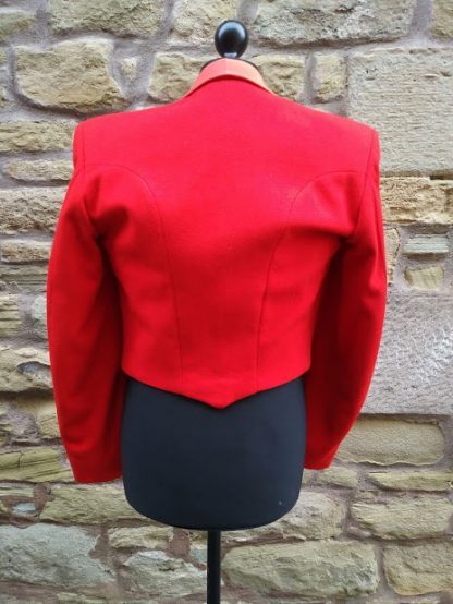 Red Mess Dress with Royal Engineer Collar dogs