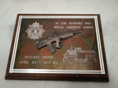 Royal Logistics Corps 15 Log Support Sqn mess Wall Plaque