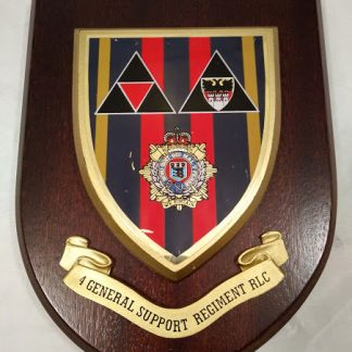 Royal Logistic Corps 4 General Support Regiment RLC Mess Wall Plaque
