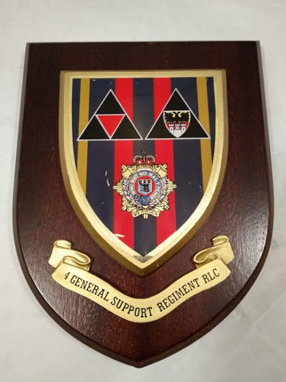 Royal Logistics Corps 4 General Support Regiment RLC Mess Wall Plaque