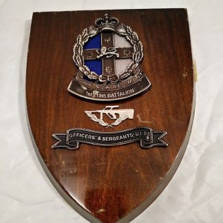 Royal New South Wales Regiment 1st19th Battalion Plaque