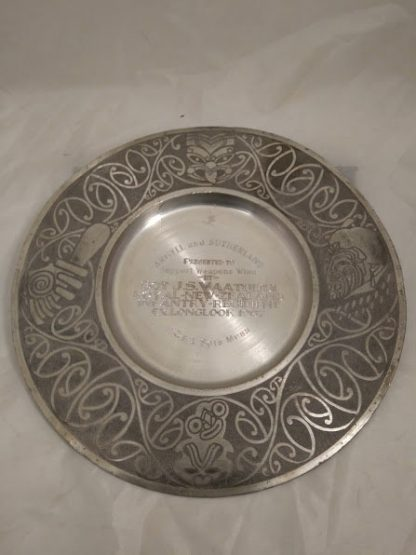 Royal New Zealand Infantry Regiment pewter plate for Wall Mess display