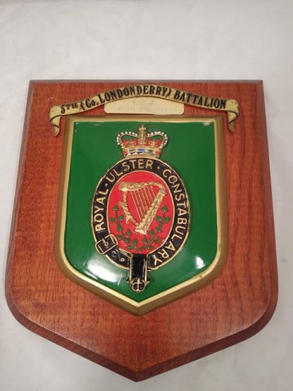 Royal Ulster Constabulary 5th (Co Londonderry) Battalion Mess Wall Plaque