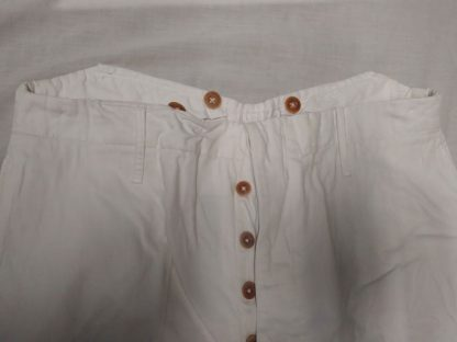 Sailor's Trousers. Men's Yachting Deck Trousers. White