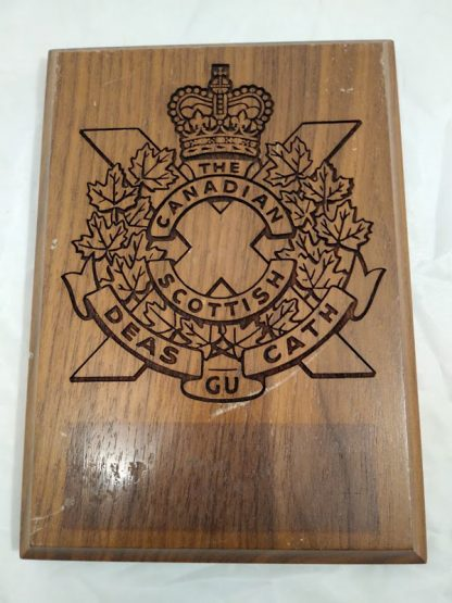The Canadian Scottish Regimental Mess Plaque