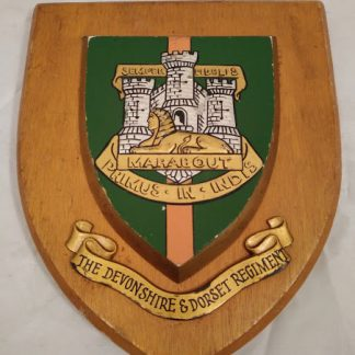 The Devonshire & Dorset Regiment Regimental Wall Mess Plaque