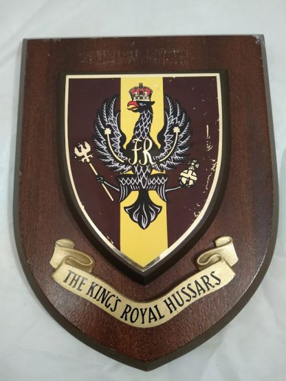 The King's Royal Hussars Regimental Mess Plaque