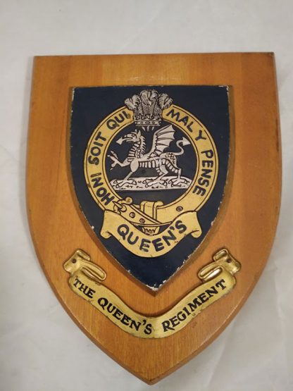 The Queen's Regiment Mess Plaque