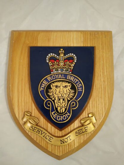 The Royal British Legion Wall Mess Plaque