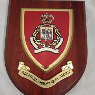 The Royal Gibralter Regiment Wall Mess Plaque