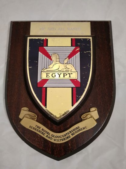 The Royal Gloucestershire Berkshire & Wiltshire Regiment Mess Wall Plaque