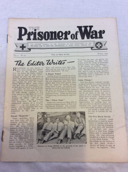 The prisoner of War. Red Cross issued official journal of the prisoners of war