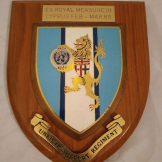 Unficyp Support Regiment Mess Wall Plaque