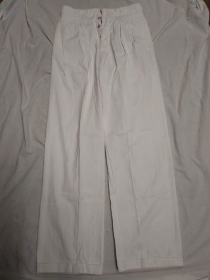 Vintage 'Roaring 20's' Sailor's Trousers. Men's Yachting Deck Trousers. White. With turn up's