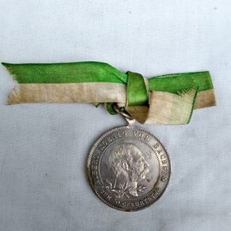commemorative medal for the 70th birthday of king albert of saxony 1898