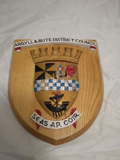 Argyll & Bute Council Wall Mess Plaque