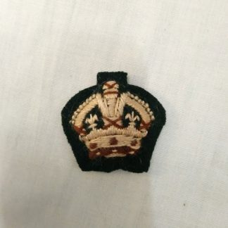 British Army Officer Cloth Rank insignia Kings Crown