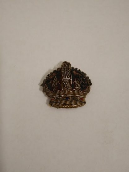 Bullion Epaulette Rank Insigina Kings Crown