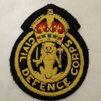 Civil Defence corps Patch Badge