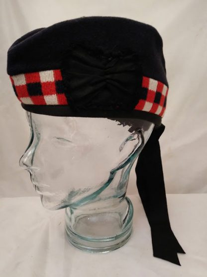 Diced Glengarry pipers bonnet hat
