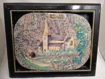 Drumcree Church painting, presented to Argyll and Sutherland Highlanders