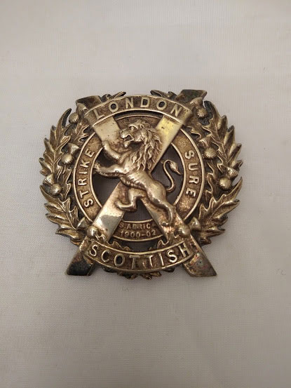 London Scottish Cap Badge