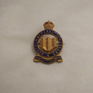 Northumberland Hussars South Africa 1900-02 Enamel Badge