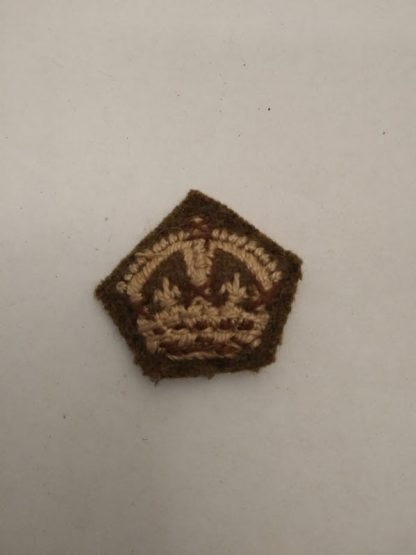 Officer Rank crown on Khaki