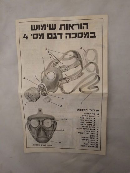 Respirator Filter for Israeli gas mask