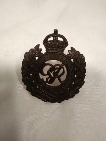 Royal Engineers George VI Officers Cap badge