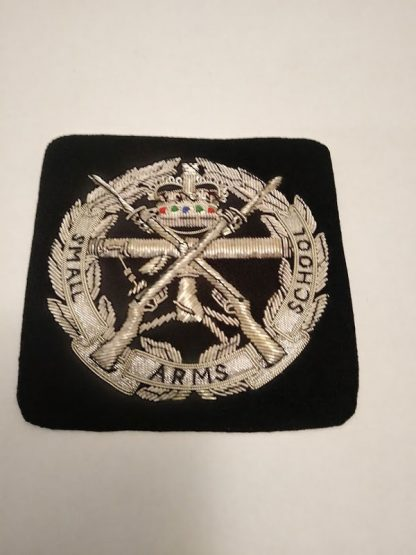 Small Arms School bullion patch badge