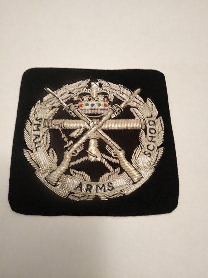 Small Arms School bullion patch badge