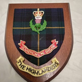 The Highlanders Wall Mess Plaque