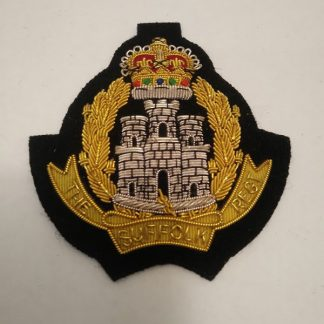 The Suffolk Regiment Regimental bullion patch badge