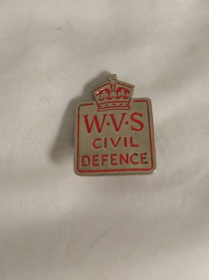 W.V.S. Sweet Heart Brooch Pin Badge