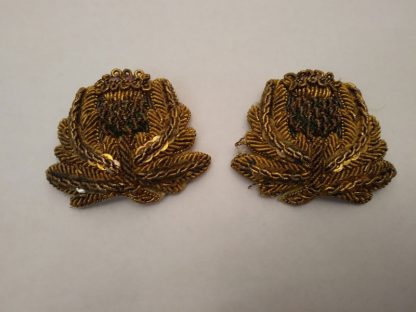 Wired Bullion rank insignia pair