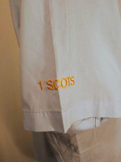 1 Scots Blue lightweight short sleeve shirt