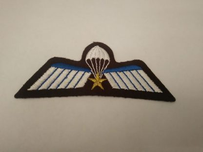 Dutch Parachute wings with Airmobile Brigade star cloth Patch Badge