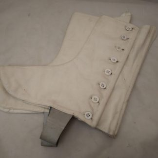 Genuine military issue regimental spats 8 buttons