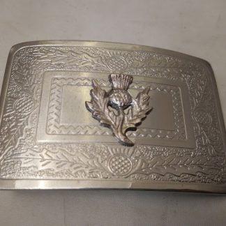 Kilt belt buckle - Thistle