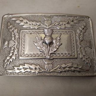 Kilt belt buckle - thistle - children's