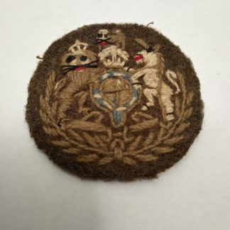 Laurel Wreathed WO1 Rank Patch with Kings Crown